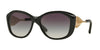 Burberry BE4208Q Irregular Sunglasses  30018G-BLACK 57-16-135 - Color Map black