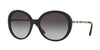 Burberry BE4239QF Round Sunglasses  30018G-BLACK 57-19-140 - Color Map black