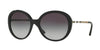 Burberry BE4239Q Round Sunglasses  30018G-BLACK 57-19-140 - Color Map black