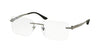Bvlgari BV1089 Rectangle Eyeglasses  103-GUNMETAL 55-17-140 - Color Map gunmetal