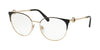Bvlgari BV2203 Round Eyeglasses  2033-BLACK/ROSE GOLD 54-18-140 - Color Map black
