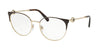 Bvlgari BV2203 Round Eyeglasses  2034-BROWN/PALE GOLD 54-18-140 - Color Map brown