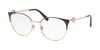 Bvlgari BV2203 Round Eyeglasses  2035-PLUM/ROSE GOLD 54-18-140 - Color Map purple/reddish