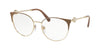 Bvlgari BV2203 Round Eyeglasses  2036-MATTE TURTLEDOVE/PALE GOLD 54-18-140 - Color Map light brown