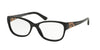 Bvlgari BV4104B Oval Eyeglasses  501-BLACK 54-16-140 - Color Map black