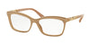 Bvlgari BV4116B Butterfly Eyeglasses  5382-TOP CRYSTAL ON TURTLEDOVE 54-16-140 - Color Map light brown