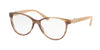 Bvlgari BV4119B Oval Eyeglasses  5240-STRIPED BROWN 54-15-140 - Color Map brown