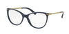 Bvlgari BV4121 Cat Eye Eyeglasses  5388-DARK BLUE 53-17-140 - Color Map blue