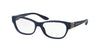 Bvlgari BV4124B Rectangle Eyeglasses  5390-TOP CRYSTAL ON BLUE 52-16-140 - Color Map blue