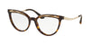 Bvlgari BV4165 Cat Eye Eyeglasses  504-DARK HAVANA 53-18-140 - Color Map havana