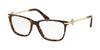Bvlgari BV4166B Rectangle Eyeglasses  504-DARK HAVANA 52-16-140 - Color Map havana