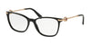 Bvlgari BV4169 Cat Eye Eyeglasses  501-BLACK 54-17-140 - Color Map black
