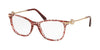 Bvlgari BV4169 Cat Eye Eyeglasses  5451-RED/CHERRY SAN PIETRINO 54-17-140 - Color Map red