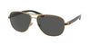 Bvlgari BV5033 Pilot Sunglasses  200387-MATTE PINK GOLD 59-13-140 - Color Map pink
