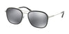 Bvlgari BV5041 Rectangle Sunglasses  400/6G-BLACK 56-19-145 - Color Map black