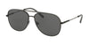 Bvlgari BV5047Q Pilot Sunglasses  128/87-GREY/MATTE BLACK 59-14-145 - Color Map black