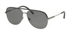 Bvlgari BV5047Q Pilot Sunglasses  195/81-BLACK/MATTE GUNMETAL 59-14-145 - Color Map gunmetal