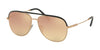 Bvlgari BV5047Q Pilot Sunglasses  20134Z-BLACK/MATTE PINK GOLD 59-14-145 - Color Map gold