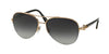 Bvlgari BV6068K Pilot Sunglasses  395/3C-PINK GOLD PLATED 59-16-135 - Color Map pink