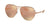 Bvlgari BV6098 Pilot Sunglasses  20134Z-MATTE PINK GOLD 61-14-140 - Color Map gold