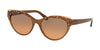 Bvlgari BV8209F Cat Eye Sunglasses  546118-GOLD/BEIGE ON TRANSP BROWN 56-18-140 - Color Map brown