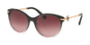 Bvlgari BV8210BF Oval Sunglasses  54498H-BLACK GRADIENT PINK 55-19-140 - Color Map black