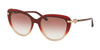 Bvlgari BV8211B Cat Eye Sunglasses  54628D-RED GRADIENT BEIGE 55-18-140 - Color Map red