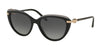 Bvlgari BV8211B Cat Eye Sunglasses  5464T3-TOP TRANSPARENT GREY ON BLACK 55-18-140 - Color Map grey