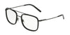 DOLCE & GABBANA DG1288 Square Eyeglasses  1106-MATTE BLACK/BLACK 53-18-145 - Color Map black