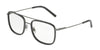 DOLCE & GABBANA DG1288 Square Eyeglasses  1258-GUNMETAL/GREY 53-18-145 - Color Map grey