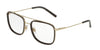 DOLCE & GABBANA DG1288 Square Eyeglasses  488-PALE GOLD/BROWN 53-18-145 - Color Map brown