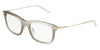 DOLCE & GABBANA DG1293 Rectangle Eyeglasses  488-MIRROR PALE GOLD 53-19-145 - Color Map gold