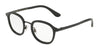 DOLCE & GABBANA DG1296 Irregular Eyeglasses  501-BLACK 48-22-140 - Color Map black