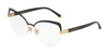 DOLCE & GABBANA DG1305 Cat Eye Eyeglasses  01-BLACK 55-16-140 - Color Map black
