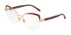 DOLCE & GABBANA DG1305 Cat Eye Eyeglasses  1321-PINK GOLD GRAD BORDEAUX 55-16-140 - Color Map bordeaux