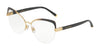 DOLCE & GABBANA DG1305 Cat Eye Eyeglasses  1322-GOLD GRADIENT GREY 55-16-140 - Color Map gold
