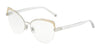 DOLCE & GABBANA DG1305 Cat Eye Eyeglasses  1323-SILVER GRADIENT GOLD 55-16-140 - Color Map gold