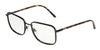 DOLCE & GABBANA DG1306 Rectangle Eyeglasses  01-BLACK 56-18-140 - Color Map black