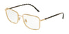 DOLCE & GABBANA DG1306 Rectangle Eyeglasses  02-GOLD 56-18-140 - Color Map gold