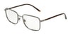 DOLCE & GABBANA DG1306 Rectangle Eyeglasses  04-GUNMETAL 56-18-140 - Color Map gunmetal