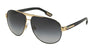 DOLCE & GABBANA GYM DG2099 Pilot Sunglasses  10818G-GOLD/BLACK 61-11-135 - Color Map black