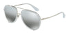 DOLCE & GABBANA DG2161 Pilot Sunglasses  05/88-OPAL AZURE/SILVER 55-18-140 - Color Map light blue