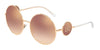 DOLCE & GABBANA DG2205 Round Sunglasses  12986F-PINK GOLD 59-18-140 - Color Map gold
