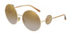 DOLCE & GABBANA DG2205 Round Sunglasses  488/6E-PALE GOLD 59-18-140 - Color Map gold