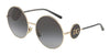 DOLCE & GABBANA DG2205 Round Sunglasses  488/8G-PALE GOLD 59-18-140 - Color Map gold
