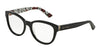 DOLCE & GABBANA ENCHANTED BEAUTIES DG3209 Round Eyeglasses  2976-BLACK/WHITE CARNATION BLK POIS 53-18-140 - Color Map black
