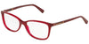 DOLCE & GABBANA DG3219 Pillow Eyeglasses  2681-OPAL RED 55-16-140 - Color Map bordeaux