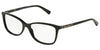 DOLCE & GABBANA DG3219 Pillow Eyeglasses  501-BLACK 55-16-140 - Color Map black