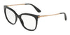 DOLCE & GABBANA DG3259 Square Eyeglasses  501-BLACK 53-17-140 - Color Map black