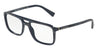 DOLCE & GABBANA DG3267F Rectangle Eyeglasses  3092-STRIPED GREY ON BLUE 54-18-145 - Color Map blue